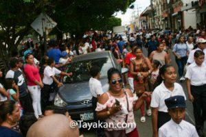 Desfile de presentación en León, Nicaragua. El principal desfile patrio es el próximo sábado 14 de septiembre.