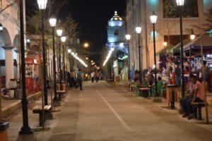 Calle Peatonal que une el parque Central, La Merced y de los Poetas.