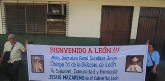 Monseñor Sócrates René Sándigo Jirón nuevo Obispo de la Diócesis de León, Nicaragua.