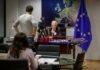 El alto representante para la Política Exterior de la Unión Europea (UE), Josep Borrell, en un momento de la entrevista por videoconferencia con la Agencia EFE. EFE/ Stephanie Lecocq