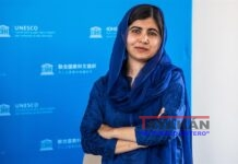 La activista paquistaní Malala Yousafzai y premio Nobel de la Paz 2014. EFE/EPA/CHRISTOPHE PETIT TESSON / POOL