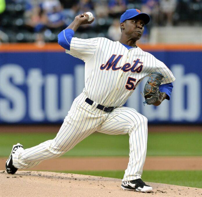 La expromesa de los Mets de Nueva York comenzó su carrera como abridor, antes de someterse a una cirugía Tommy John en el 2018 y ser trasladado al bullpen por los Vigilantes. EFE/ JUSTIN LANE/Archivo