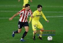 Mikel Vesga, del Athletic (I), durante un partido. EFE / Domenech Castelló/Archivo