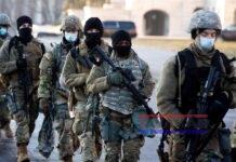 Vista de tropas de la Guardia Nacional de EE.UU. en Washington, este 13 de enero de 2021. EFE/Michael Reynolds