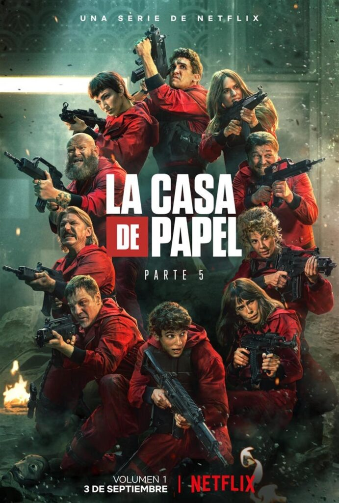 """Cartel de la quinta y última temporada de """"La casa de papel"""". Imagen cedida por Netflix."""